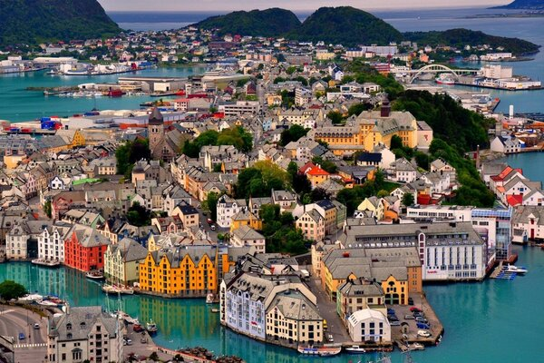 Alesund, Norway Harbor