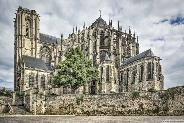 Cathedral of Saint Julian of Le Mans France
