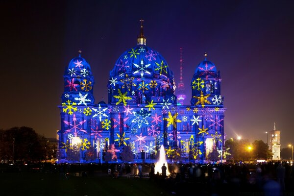 Berlin Cathedral during Festival of Lights