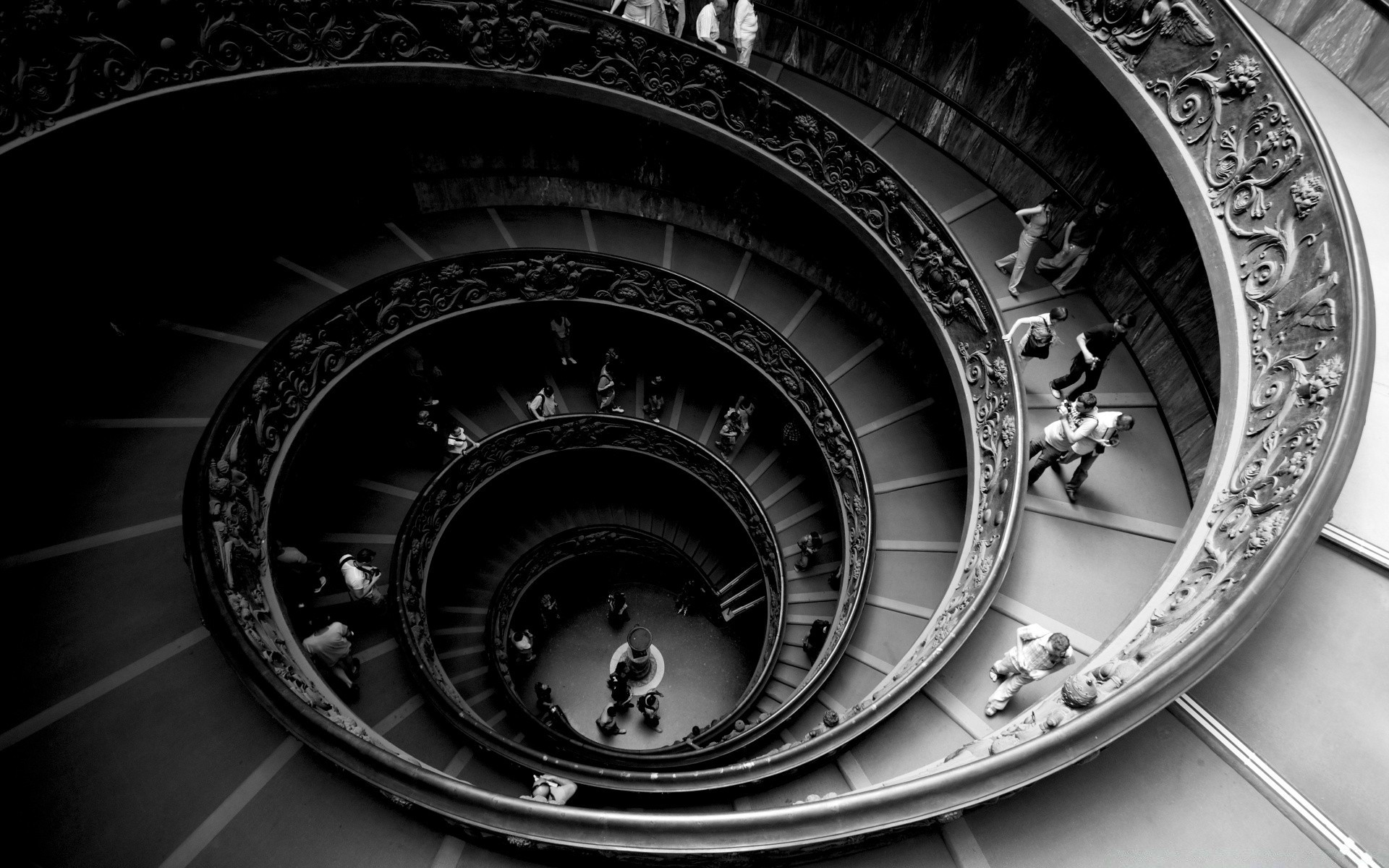 Spiral Stairs Of The Vatican Museums Android Wallpapers