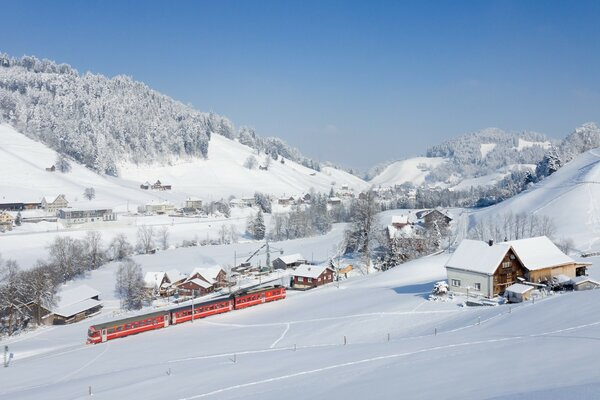 Appenzell Railways in a Winter Wonderland