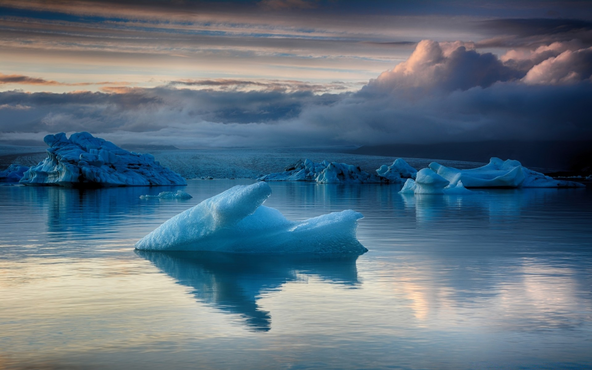 Iceland Glacier Lagoon Blue Ice Android Wallpapers