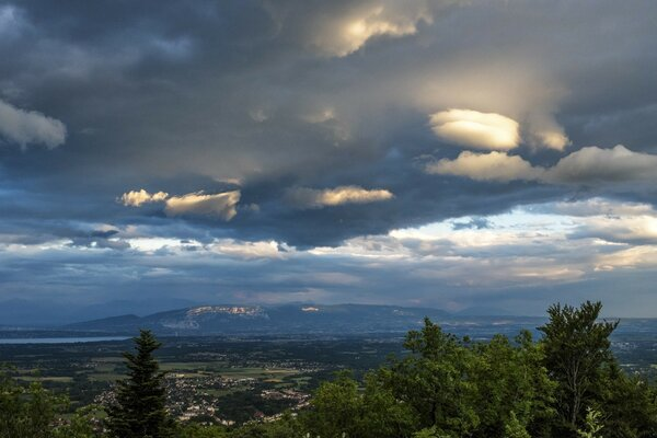 Stormy Clouds over Gex, France