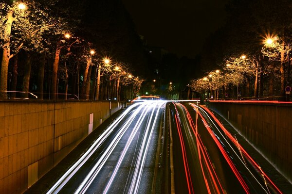 Paris Night Traffic