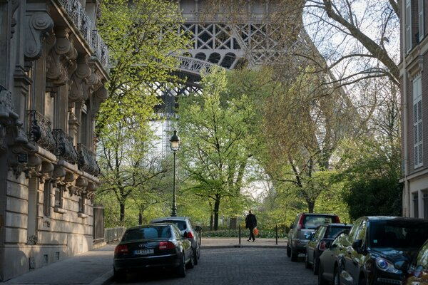 Street Near Eiffel Tower