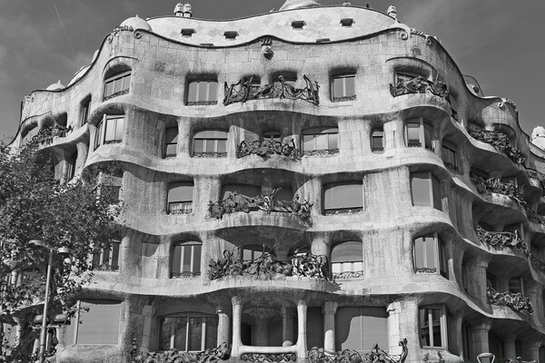 Casa Mila - Barcelona, Spain - Black And White