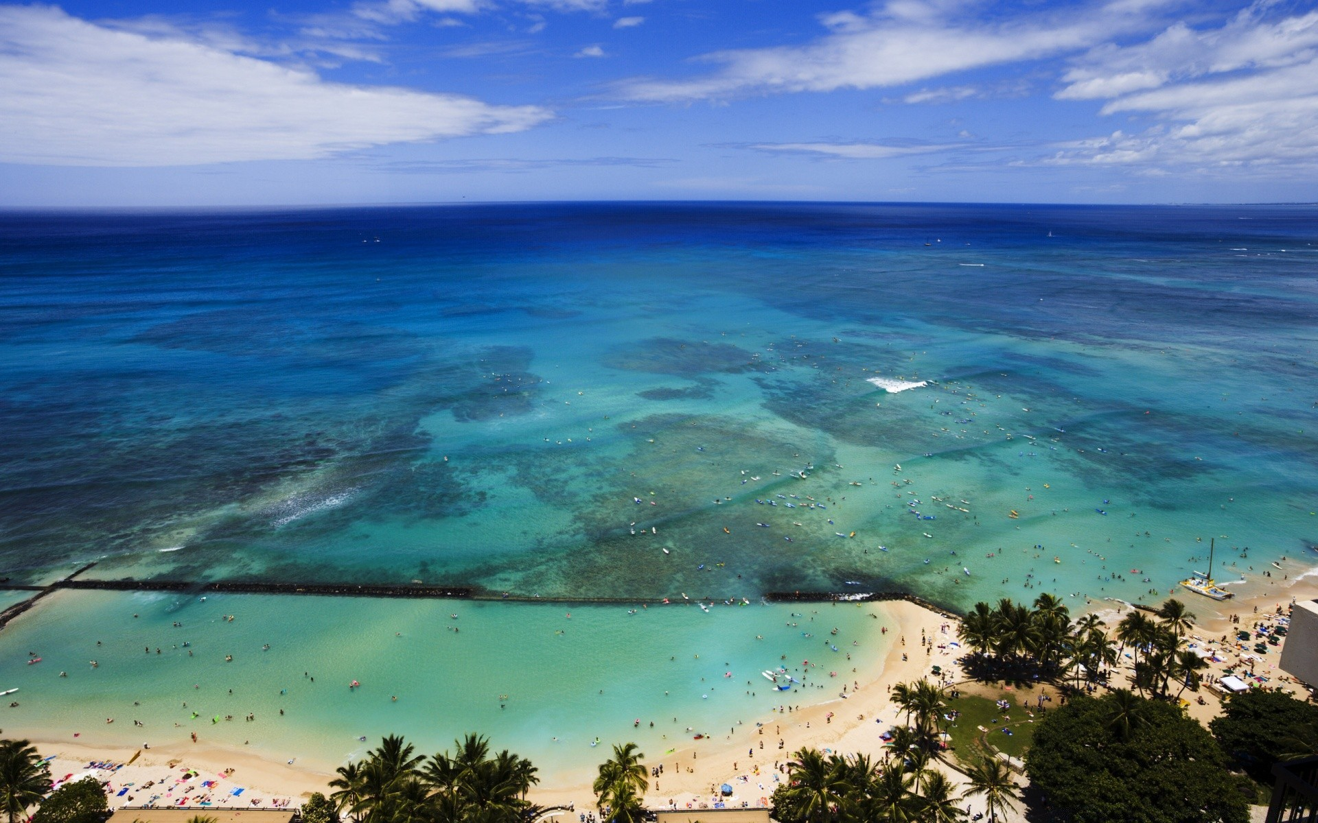 Aerial View Of Hawaii Beach Android Wallpapers For Free