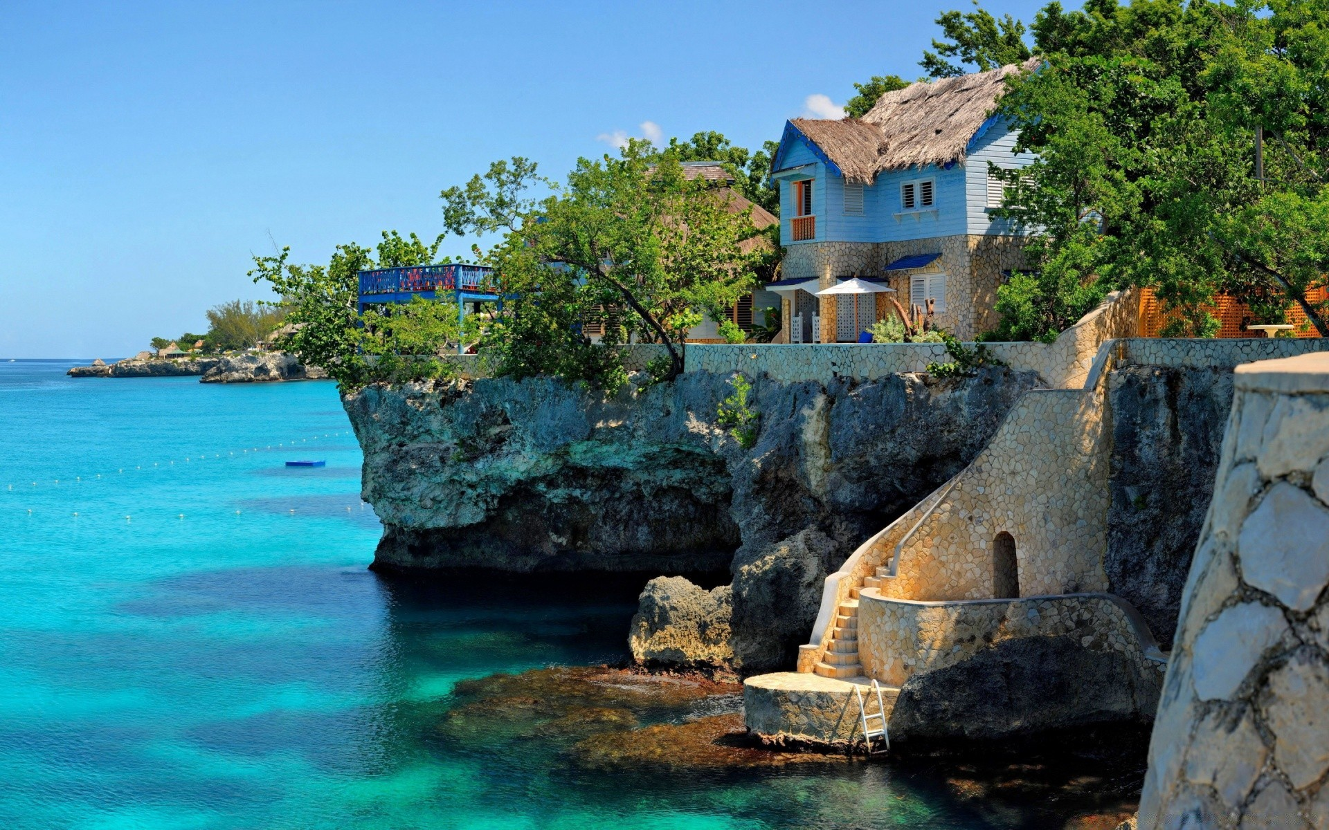 Houses Negril Jamaica Android Wallpapers For Free