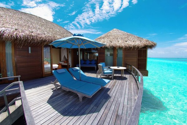 Water Bungalows In Maldives Resort