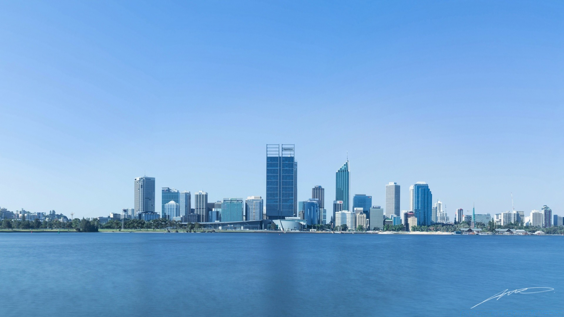 perth city panorama. android wallpapers for free.