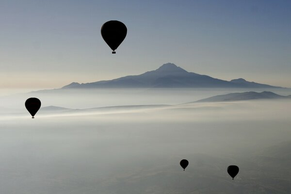 Hot Air Balloons, Islands